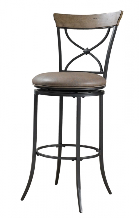 Charleston X-Back Swivel Bar Stool - Hillsdale