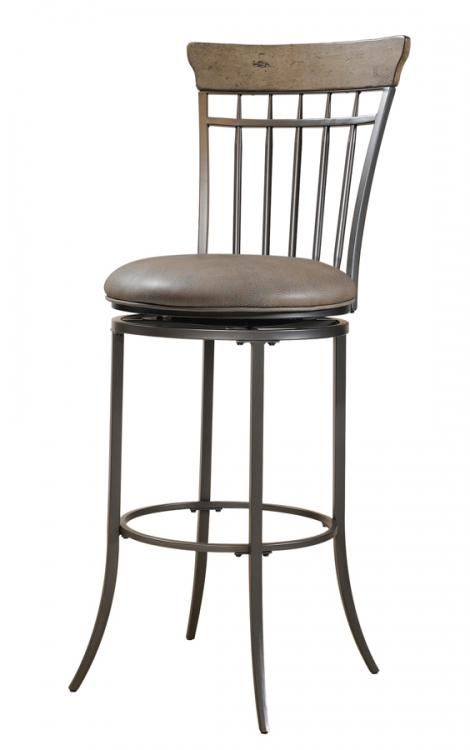 Charleston Vertical Spindle Back Swivel Bar Stool