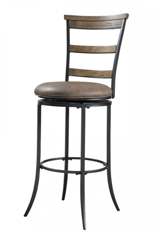 Charleston Ladder Back Swivel Bar Stool - Hillsdale