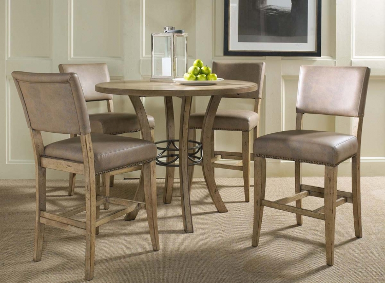 Charleston Round Counter Height Dining Set With Parson Stool - Hillsdale