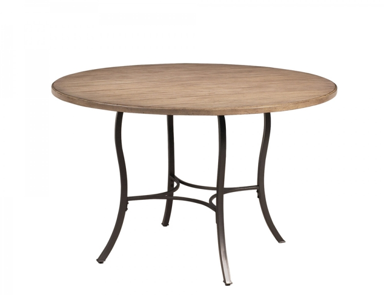 Charleston Round Dining Table With Metal Base- Hillsdale