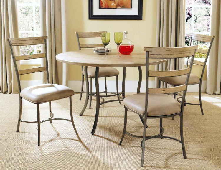 Charleston Round Dining Set With Ladder Back Dining Chair - Hillsdale