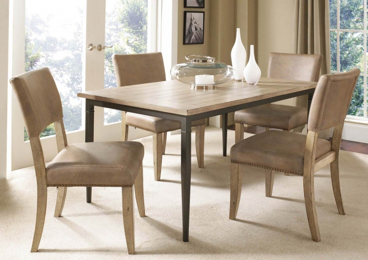 Charleston Rectangular Dining Set With Parson Dining Chair