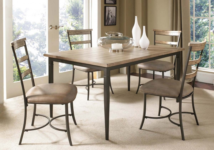 Charleston Rectangular Dining Set With Ladder Back Dining Chair - Hillsdale
