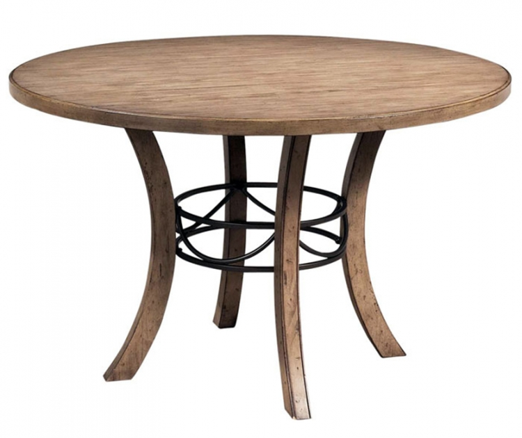 Charleston Round Dining Table With Wooden Base - Hillsdale