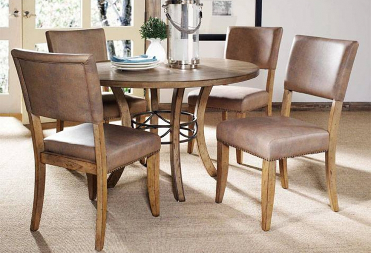 Charleston Round Dining Set With Parson Dining Chair - Hillsdale