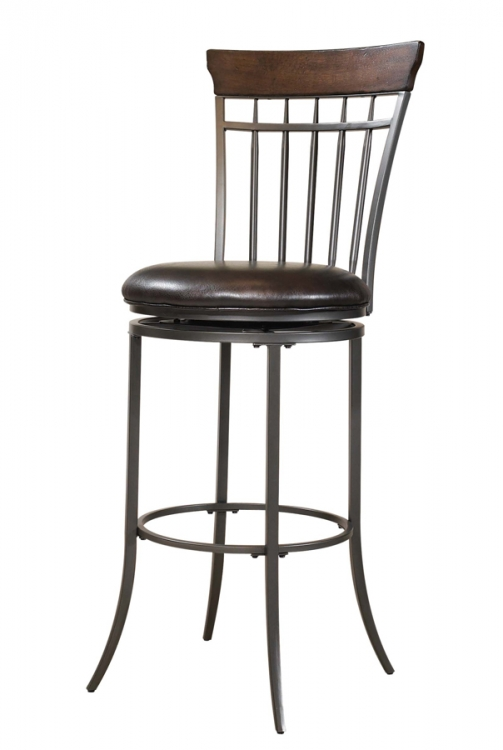 Cameron Vertical Spindle Back Swivel Counter Stool - Hillsdale