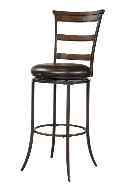 Cameron Ladder Back Swivel Bar Stool - Hillsdale