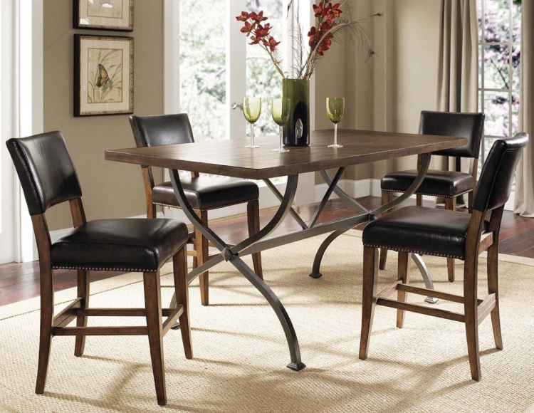 Cameron Rectangular Counter Height Dining Set With Parson Stool - Hillsdale