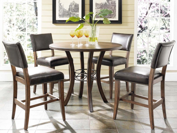 Cameron Counter Height Round Dining Set With Parson Stool - Hillsdale
