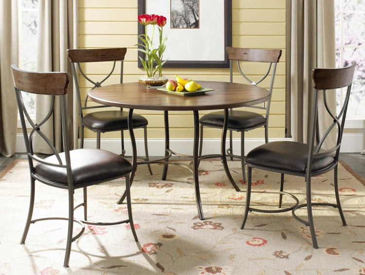 Cameron Round Dining Set With X-Back Dining Chair