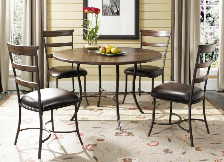 Cameron Round Dining Set With Ladder Back Dining Chair - Hillsdale