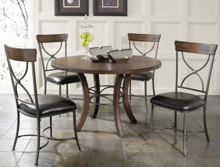 Cameron Round Dining Set With X-Back Dining Chair - Hillsdale