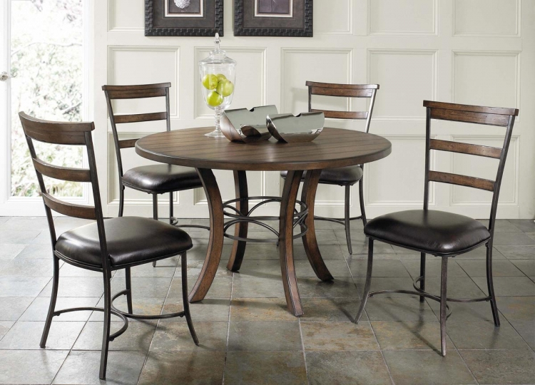 Cameron Round Dining Set With Ladder Back Dining Chair