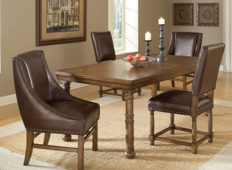 Hartland Dining Set B - Dark Oak - Hillsdale