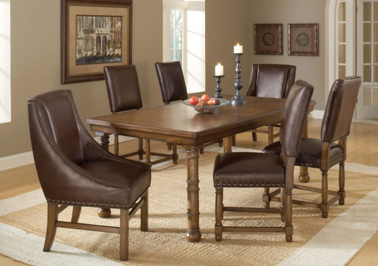 Hartland Dining Set C - Dark Oak - Hillsdale