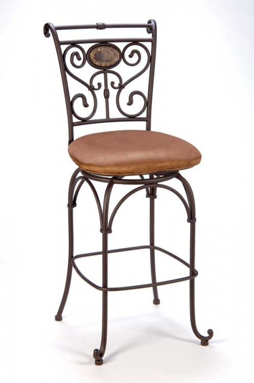 Sedona Metal Counter Stool with Memory Swivel - Hillsdale