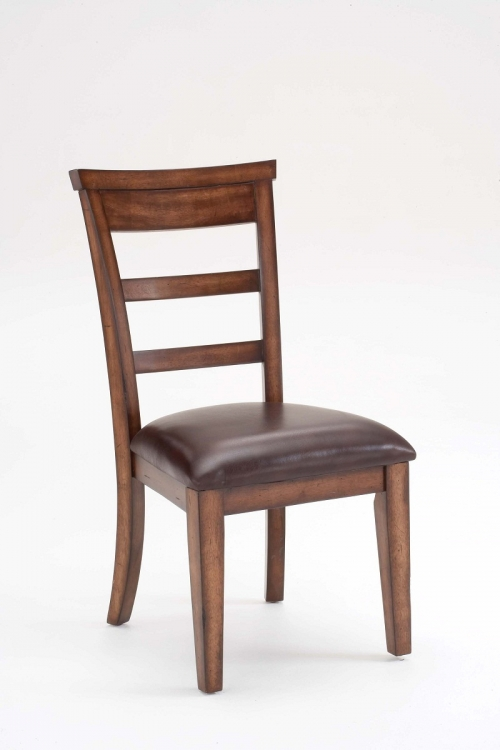 Villagio Scroll Back Non-Swivel Counter Stools - Dark Chestnut