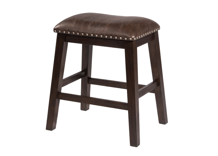 Spencer Non-Swivel Backless Counter Stool - Dark Espresso
