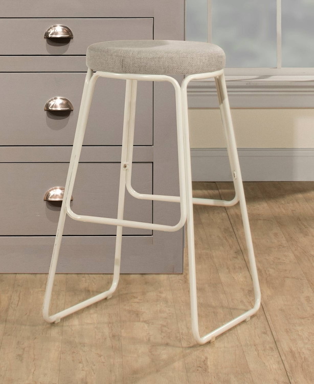 Southlake Backless Non-Swivel Counter Stool - Matte White