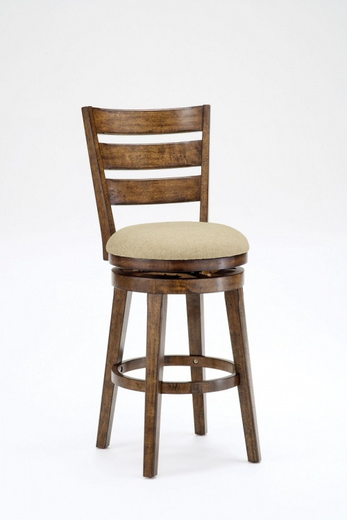 Lenox Swivel Counter Stool - Chestnut