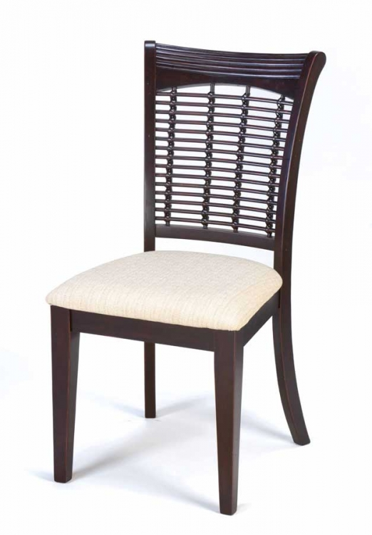 Bayberry Wicker Chair - Dark Cherry - Hillsdale