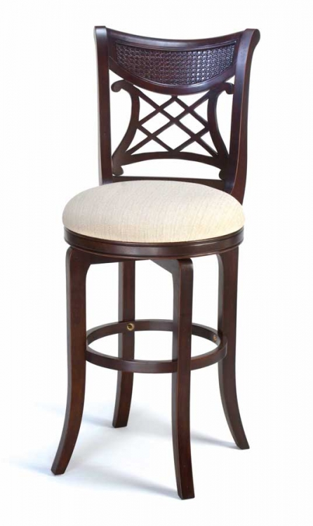 Glenmary Swivel Wood Counter Stool - Dark Cherry