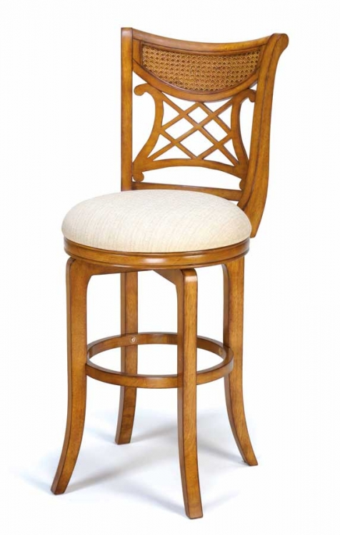 Glenmary Swivel Wood Counter Stool - Oak