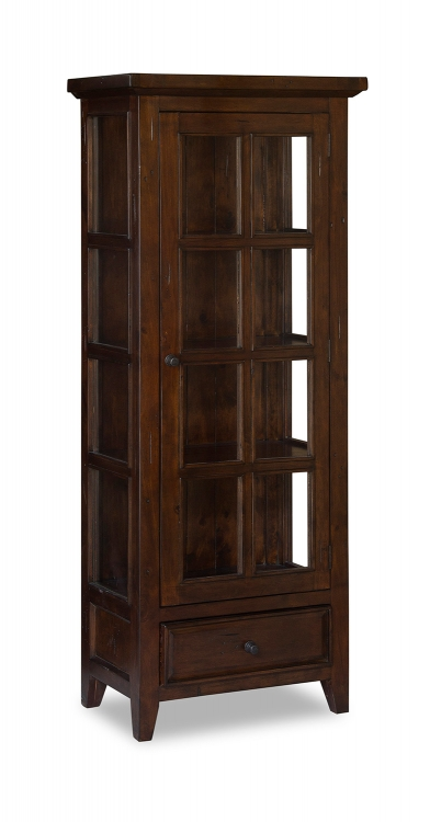 Tuscan Retreat Small Display Cabinet - Rustic Mahogany