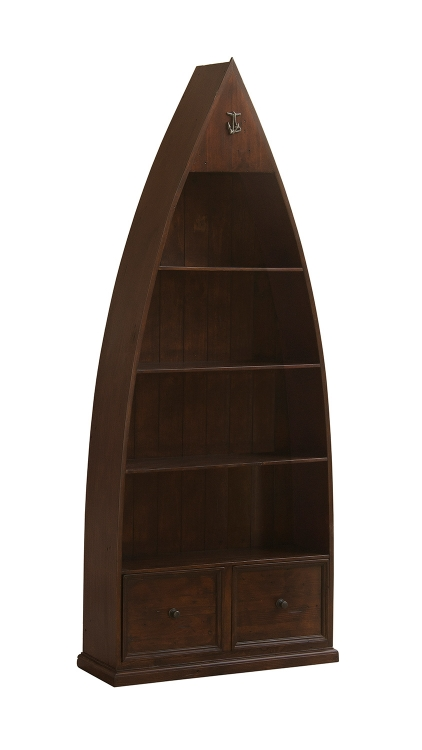Tuscan Retreat Boat Bookshelves and Storage - Rustic Mahogany
