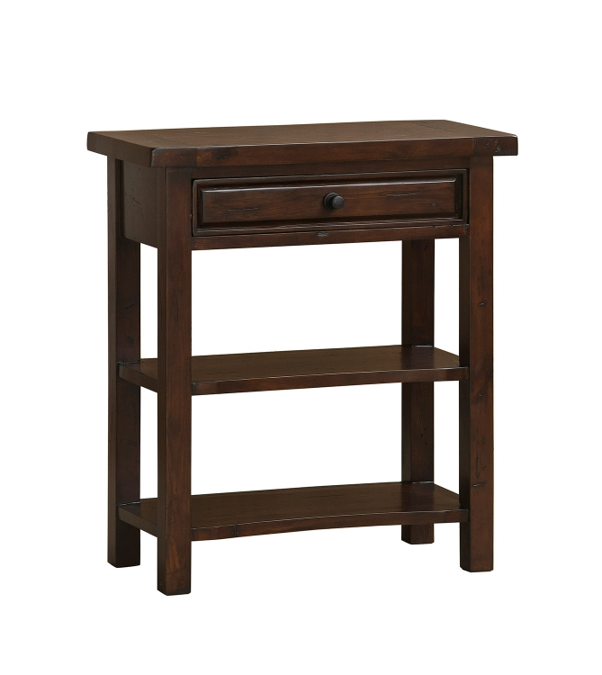 Tuscan Retreat Single Drawer Console Table - Rustic Mahogany