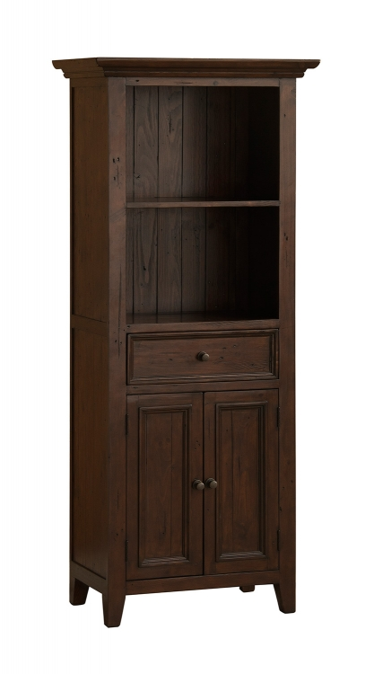 Tuscan Retreat Open Top Display Cabinet - Rustic Mahogany