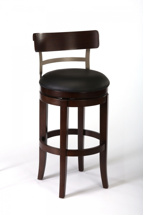 Bauer Swivel Counter Stool - Espresso/Pewter - Hillsdale