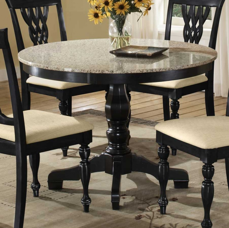 Embassy Round Pedestal Table with Granite Top