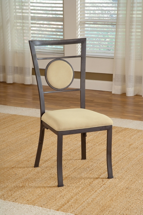 Harbour Point Metal Dining Chair with Oval Back- Golden Bronze - Hillsdale