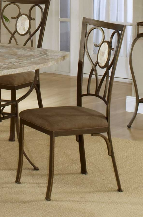 Brookside Oval Fossil Back Dining Chair - Hillsdale