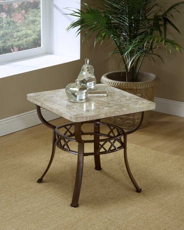 Brookside Fossil End Table - Hillsdale