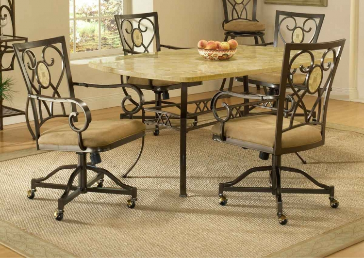 Brookside Rectangle Dining Collection - Oval Caster Chair - Hillsdale