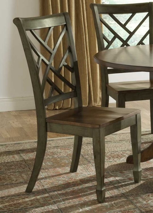 Garden Back Dining Side Chair - Antique Green