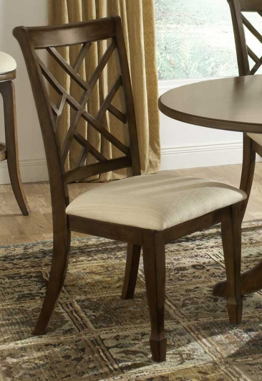 Garden Back Dining Side Chair - Brown