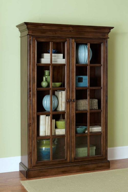 Pine Island Large Library Cabinet - Dark Pine