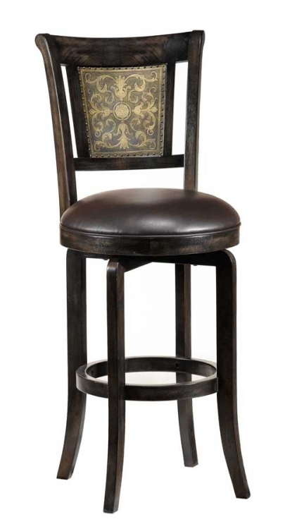 Camille Swivel Wood Counter Stool
