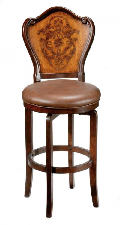Lyon Swivel Wood Counter Stool