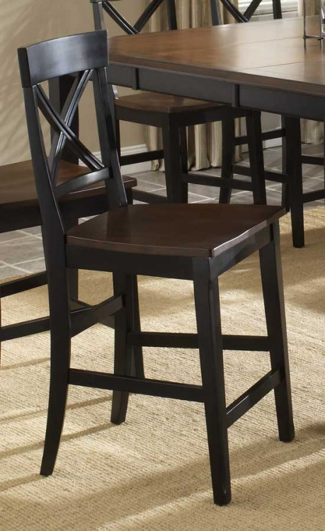 Englewood Counter Stool with Solid Seat - Hillsdale