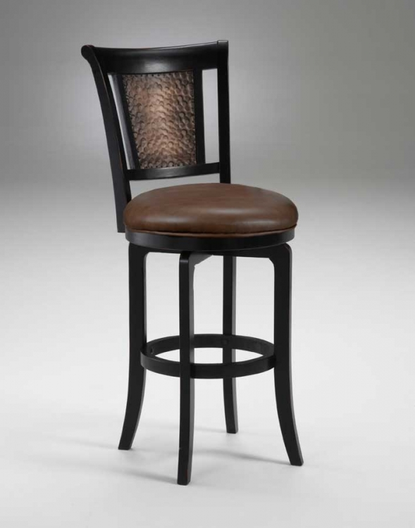 Cecily Swivel Wood Counter Stool - Hillsdale