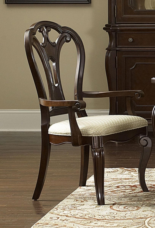 Grandover Arm Chair - Dark Cherry - Hillsdale