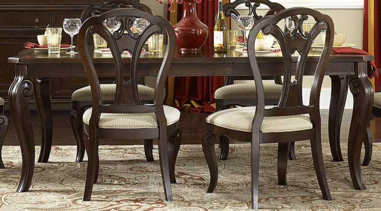 Grandover Extension Rectangle Table - Dark Cherry - Hillsdale