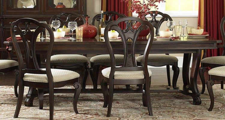 Grandover Large Extension Rectangle Table - Dark Cherry - Hillsdale