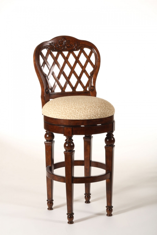 Woodridge Swivel Counter Stool - Walnut - Hillsdale
