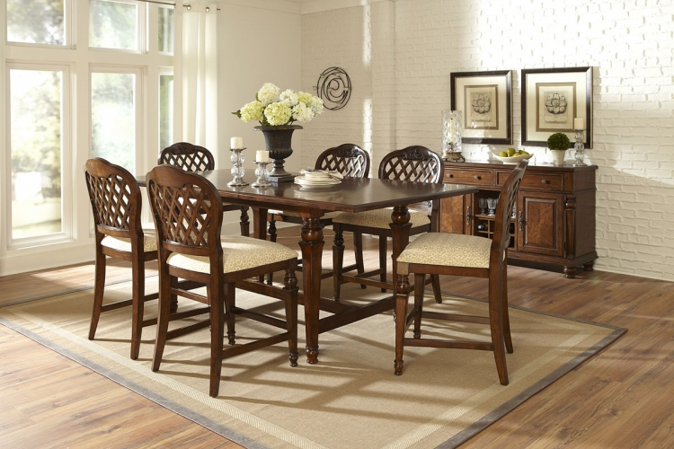 Woodridge 7 Piece Counter Height Dining Set - Walnut - Hillsdale